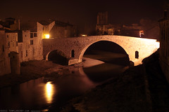 FR11 3392 Le Pont de l'Abbaye et la rivière l'Orbieu. Lagrasse, Aude, Languedoc (Templar1307) Tags: lagrasse aude languedoc languedocroussillon occitanie france lagrassa night longexposure canon1d bridge pont rivierelorbieu river orbieu pontdelabbaye
