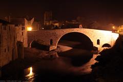 FR11 3390 Le Pont de l'Abbaye et la rivière l'Orbieu. Lagrasse, Aude, Languedoc (Templar1307) Tags: lagrasse aude languedoc languedocroussillon occitanie france lagrassa night longexposure canon1d bridge pont rivierelorbieu river orbieu pontdelabbaye