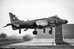 ZH813 / L006 - British Aerospace Sea Harrier FA2 - No. 801 NAS, RN (KarlADrage) Tags: zh813 l006 britishaerospaceseaharrierfa2 royalnavy rnasyeovilton yeovs egdy hmsheron blackandwhite jumpjet 801nas 801squadron