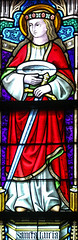 Saint Lucy (Lawrence OP) Tags: lucy saints brussels notredamedusablon window eyes martyr virgin