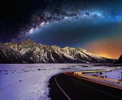 0S1A1866enthuseb (Steve Daggar) Tags: newzealand mountcook mountains winter snowcappedmountains sunset milkyway dramatic