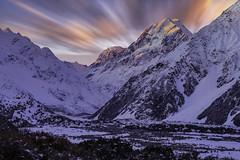 0S1A1840b (Steve Daggar) Tags: newzealand mountcook mountains winter snowcappedmountains sunset milkyway dramatic