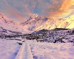 0S1A1760b (Steve Daggar) Tags: newzealand mountcook mountains winter snowcappedmountains sunset milkyway dramatic