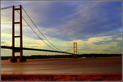 Humber Bridge (Lotsapix) Tags: hull humber bridge river estuary suspension water