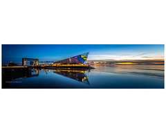 The Big Picture (Mark Lindstrom) Tags: deep lights landscape acquarium tidal barrier eastyorkshire humber stitched lightroom canon eosr hessle enigmagraphics panorama hull river thedeep sunrise
