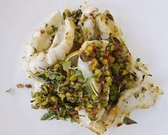 Chargrilled Calamari, Caramelised Lemon, Capers, Pistachio, Mint, Chilli (Padmacara) Tags: somàkitchen food restaurant australia fremantle