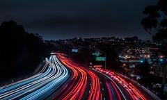 bayshore boulevard exit backup (pbo31) Tags: sanfrancisco california night dark december 2019 nikon d810 boury pbo31 black color city over bernalheights lightstream traffic motion 101 highway ramp exit red infinity