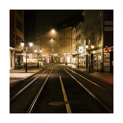 Street Night's Lights (Thomas Listl) Tags: thomaslistl color würzburg square railway urban city cityscape urbanlandscape contemporarylandscape night evening dark lamps streetlamp mood ngc 50mm