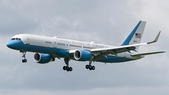 Boeing VC-32A 90015 'Air Force One' landing at EINN 5-6-19 with Donald and Melania Trump on Board-2 (Conor O'Flaherty) Tags: aviation airport jet plane vc32 trump ireland shannon af1 boeing 757 landing 90015 sam president