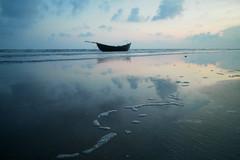 Mandarmani at Sunset (pallab seth) Tags: landscape colour dreamy cloud nature fishermen boat fishing bengal india asia tourism travel sunset silhouette mandarmani indianlandscapephotography samsungnx16mmf24ultrawideanglelens samsungnx1 dusk
