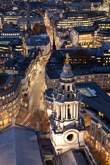 Dusk from St Paul's Cathedral (archidave) Tags: london st pauls cathedral dusk architecture