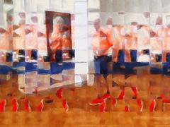 Stepping Through (karen axelrad (karenaxe)) Tags: brushstroke slowshutter decim8 superimposex iphoneography nemtheneweramuseum painterly