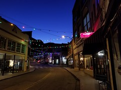 Bisbee, AZ Christmas Lights at Twilight (army.arch) Tags: bisbee arizona az night city street historic historicpreservation historicdistrict nrhp nationalregister nationalregisterofhistoricplaces nhl nationalhistoriclandmark
