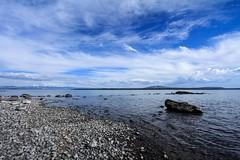 Yellowstone Lake (Yuki (8-ballmabelleamie)) Tags: yellowstonenationalpark usnationalpark waterarea highelevation volcaniclake scenery landscape waterscape horizon superwideangle roadtrip wyoming canonefs1022mmf3545usm イエローストーン国立公園
