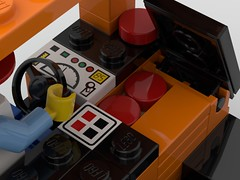 Reach Forklift Battery (eeries12) Tags: lego moc forklift reach logistics construction battery hatch lifting