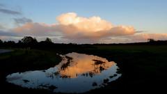 LAUWERSOOG, THE NETHERLANDS (pwitterholt) Tags: lauwersoog lauwersmeer cloud wolk weerspiegeling weerkaatsing reflectie reflection natuur nationalpark natuurgebied water pool canon canonsx40 canonpowershotsx40hs canonpowershot licht light groningen