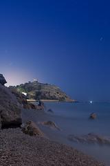 torre (ximoenvalencia) Tags: noche longexposure stars playa blue