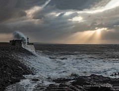 Porthcawl 2019 12 13 #4 (Gareth Lovering Photography 5,000,061) Tags: porthcawl wales seaside seafront seascape sunrise hightide waves windy garethloveringphotography olympus omdem1ii 12200mm