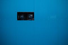 hole in blue (N.sino) Tags: leica m9 voigtlander ultron35mmf17 hole blue tin gasmeter tateishi katsushika トタン ガスメーター 穴 切り取り 立石 のん兵衛横丁 葛飾