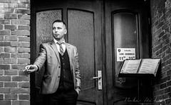 A little break (Bobe Mihai) Tags: portrait man street men streetphoto restaurant smoking black white blackandwhite blackwhite