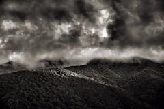 On Top of Mt. Umunhum (Bob_Wall) Tags: bobwall btwgf blackandwhite monochrome umunhum vista scenic hills clouds light shadow nature