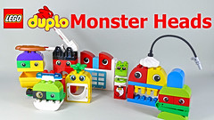 """LEGO Duplo Monster Heads (""""grohl"""") Tags: grohl666 milan reindl lego building designer animal build creature tutorial instructions duplo construction monster head fun for parents"""