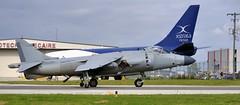 Hawker Siddeley Sea Harrier FA2 XZ439, 1979 - Nalls Aviation N94422 - Toronto Pearson. (edk7) Tags: nikond300 nikonafsdxnikkored55200mm1456g edk7 2013 canada ontario mississauga torontopearsonairport yyz private nallsaviation britishaerospace bac hawkersiddeleyseaharrierfa2 xz439 cn912002 1979 n94422 formerroyalnavyrn vstol shorttakeoffandverticallanding verticaltakeoffandlanding jet fighter reconnaissance attack aircraft plane airplane aviation military taxiing nozzle roundel british originallyfrs1versionupgradedtofa2after1988 rollsroycepegasus14mark104vectoredthrustturbofan21000lbf