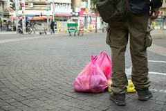 Waiting (ido1) Tags: love shop shoppingbag change street packed food market