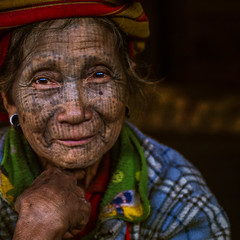 fACES oF aSIA #63_ Chin State | Myanmar (kOHN_sIAH) Tags: tattoo chinstate people portrait tribe square myanmar happyplanet asiafavorites
