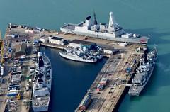 P1150007 (gosport_flyer) Tags: rn royalnavy harbour docks warships minesweeper ships water dockyard