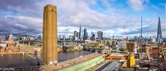 London City (patuffel) Tags: london city cityscape panorama pano shard stpaul pauls saint st paul millenium bridge modern tate gallery museum 28mm m10 leica great britain england