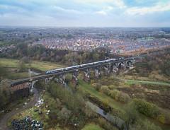 TPE on Sankey Viaduct (robmcrorie) Tags: snaky viaduct sankey liverpool scarborough tpe class 68 phantom 4 brook 1z10