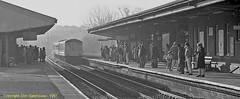 Passengers in Waiting (Don Gatehouse) Tags: britishrail br dmu class116 dms53907 stourbridgejuction hereford birminghamnewstreet table67 passengers station