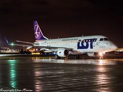 LOT Polish Airlines SP-LDH HAJ at Night (U. Heinze) Tags: aircraft airlines airways airplane flugzeug planespotting plane olympus omd em1markii 12100mm haj hannoverlangenhagenairporthaj night eddv