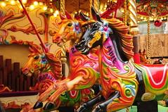 A Racing Certainty. (john a d willis) Tags: birmingham christmas xmasmarket german horses carousel