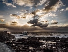 Porthcawl 2019 12 13 #8 (Gareth Lovering Photography 5,000,061) Tags: porthcawl wales seaside seafront seascape sunrise hightide waves windy garethloveringphotography olympus omdem1ii 12200mm