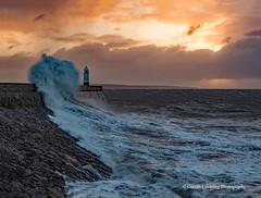 Porthcawl 2019 12 13 #1 (Gareth Lovering Photography 5,000,061) Tags: porthcawl wales seaside seafront seascape sunrise hightide waves windy garethloveringphotography olympus omdem1ii 12200mm