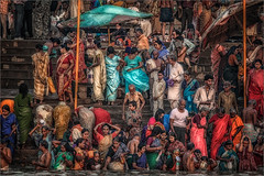 Morning Rituals at the Ganges River #11 (felixvancakenberghe) Tags: asia asian girls hinduism india people religion varanasi women