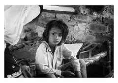 at home with mother (handheld-films) Tags: india rural family families relationships home mother son maternal portrait portraiture people indian interior rajasthan blackandwhite mono travel