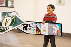 Sign Spinning Class (oaklandlibrary) Tags: oakland ca usa