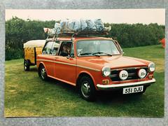 551 DJU (stevenbrandist) Tags: family 1980s camping 551dju estate car trailer holiday countryman austin1300 chrome dad