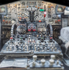 Flight deck details at Brooklands. BAC 1-11. (longfellow784@btinternet.com) Tags: flightdeck cockpit dof bac111