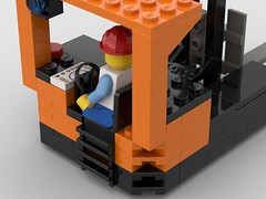 Reach Forklift Back (eeries12) Tags: lego moc forklift reach logistics construction battery hatch lifting