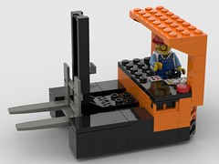 Reach Forklift 2 (eeries12) Tags: lego moc forklift reach logistics construction battery hatch lifting