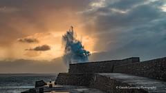 Porthcawl 2019 12 13 #3 (Gareth Lovering Photography 5,000,061) Tags: porthcawl wales seaside seafront seascape sunrise hightide waves windy garethloveringphotography olympus omdem1ii 12200mm