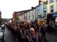 Apprentice Boys of Derry Lundy Parade December 2019 (sean and nina) Tags: boys apprentice abod ireland irish march north eire parade londonderry procession northern lundy derry ulster uk party colour drum united kingdom flags bands british uniforms colourful unionist loyalist protestant street people male men female outside women outdoor candid sash persons banners flutes collarette city winter history december order celebration historical maiden walled commemoration 2019 pul