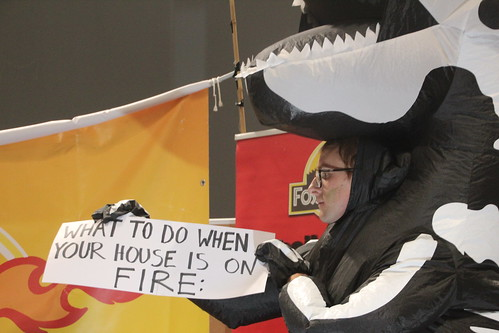 What to do when your house is on fire - #FossiloftheDay #COP25 - Dec 13 - IMG_7369