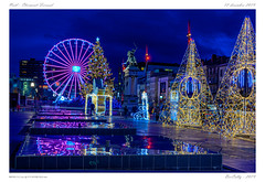 Décorations de Noël (BerColly) Tags: france auvergne clermontferrand noel christmas illuminations nuit night sapin manege granderoue bercolly google flickr