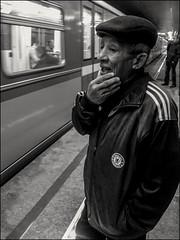 DRP130921_07 (dmitryzhkov) Tags: moscow russia documentary street life human monochrome reportage social public urban city photojournalism streetphotography people bw cell mobile dmitryryzhkov blackandwhite everyday candid stranger