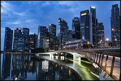 Sony A9II at dawn Singapore Business District-01= (Sheba_Also 16.7 Million Views) Tags: sony a9ii dusk singapore business district